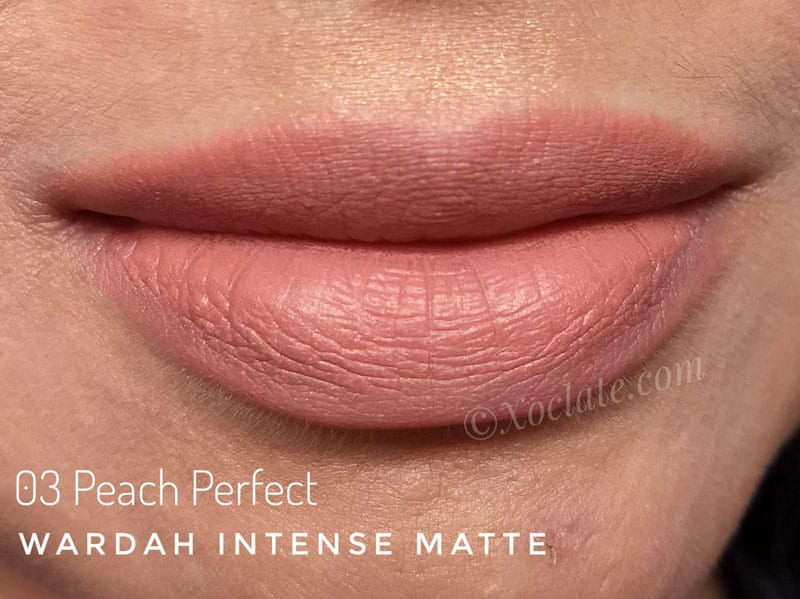 wardah intense matte peach perfect
