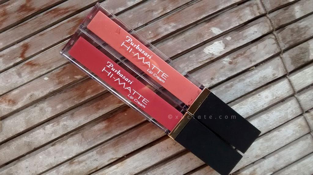 [Review] Purbasari Hi-Matte Lip Cream #01 & #02