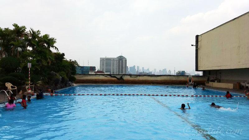 weekend swimming at gajah mada plaza